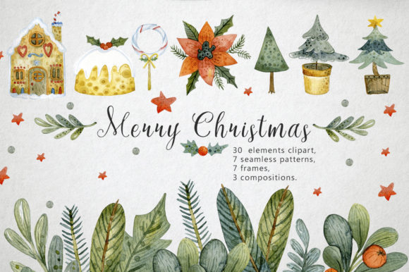Print on Demand: 6 Heavenly Holiday Bundle Graphic By By Anna Sokol - Image 2
