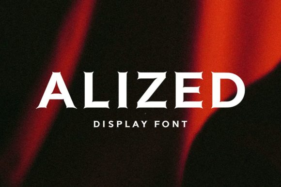 Print on Demand: Alized Display Font By Solidtype