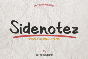 Print on Demand: Sidenotez Script & Handwritten Font By Katario Studio