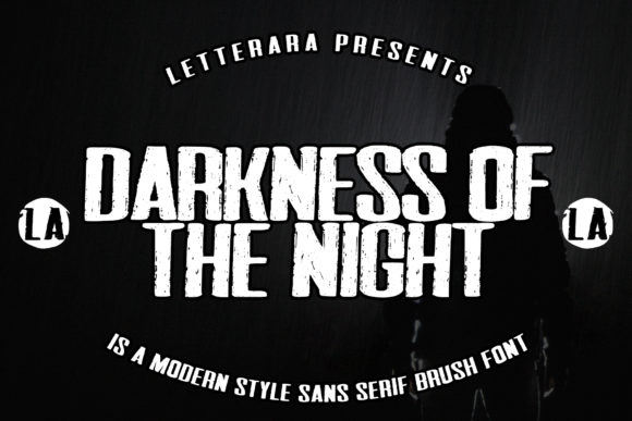 Print on Demand: Darkness of the Night Display Font By thomasaradea