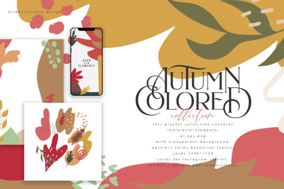 Autumn Colored Graphic Illustrations By BilberryCreate