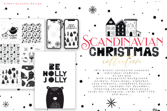 Scandinavian Christmas Collection Graphic Illustrations By BilberryCreate - Image 19