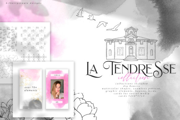 La Tendresse Graphic Illustrations By BilberryCreate - Image 1