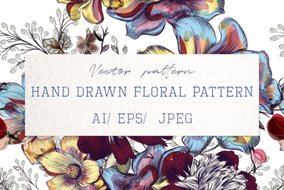 Download Free Beautiful Floral Vector Pattern Peony Graphic By Fleurartmariia for Cricut Explore, Silhouette and other cutting machines.