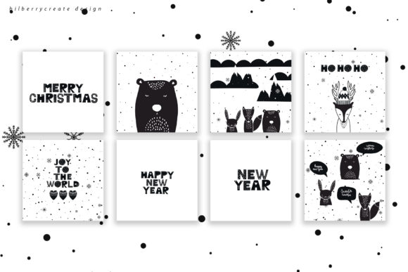 Scandinavian Christmas Collection Graphic Illustrations By BilberryCreate - Image 18