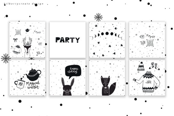 Scandinavian Christmas Collection Graphic Illustrations By BilberryCreate - Image 13