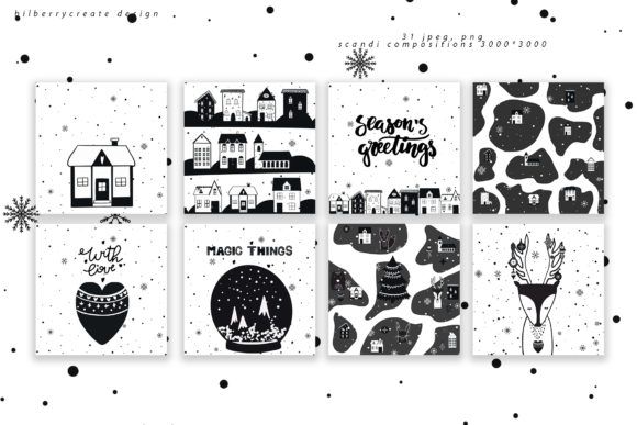 Scandinavian Christmas Collection Graphic Illustrations By BilberryCreate - Image 12