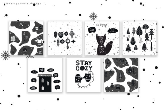 Scandinavian Christmas Collection Graphic Illustrations By BilberryCreate - Image 11