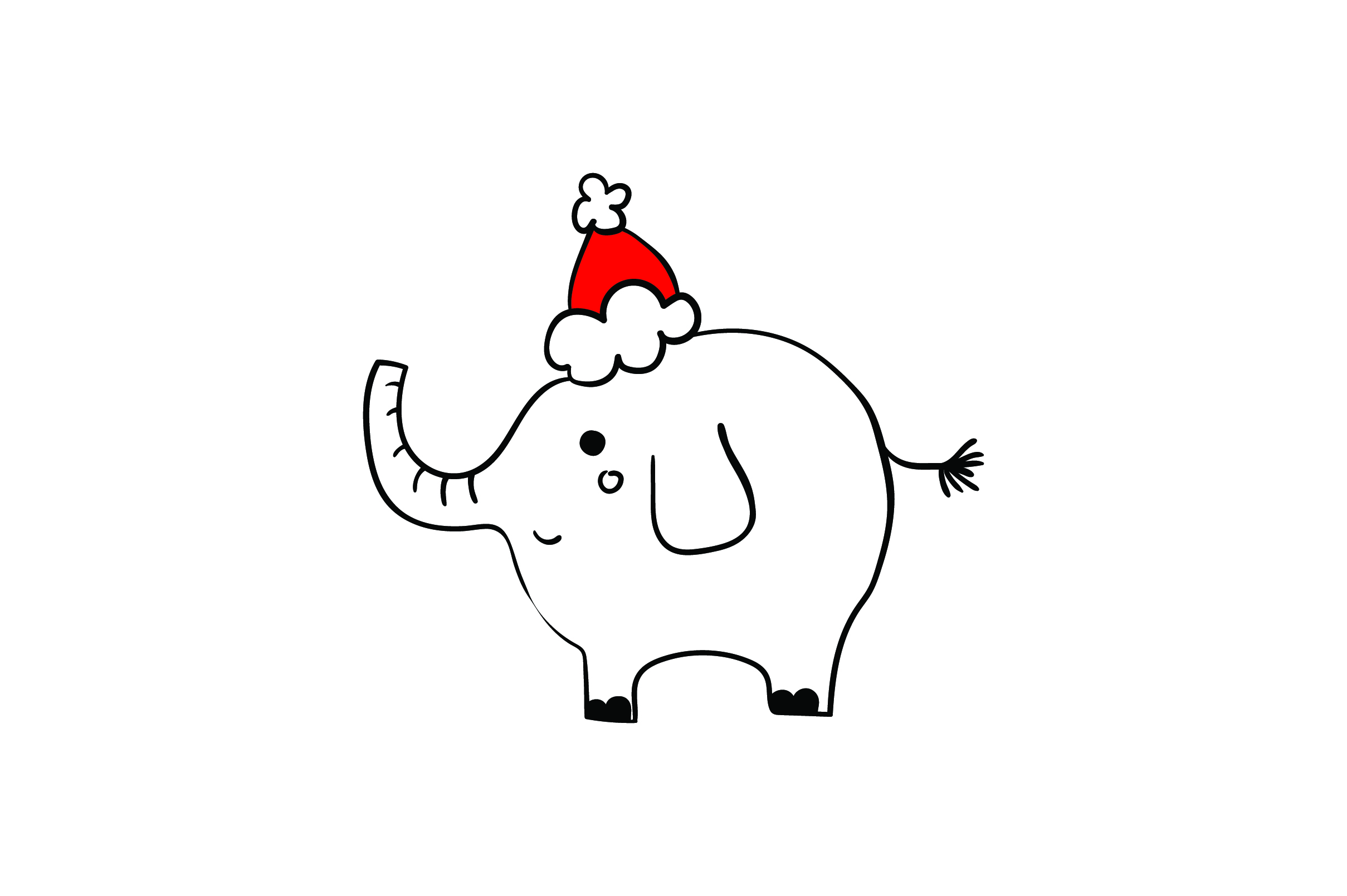 Download Free Christmas Elephant Svg Cut File By Creative Fabrica Crafts Creative Fabrica for Cricut Explore, Silhouette and other cutting machines.