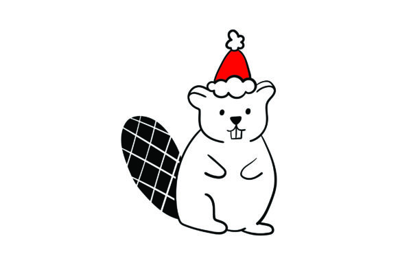Christmas Beaver Christmas Craft Cut File By Creative Fabrica Crafts