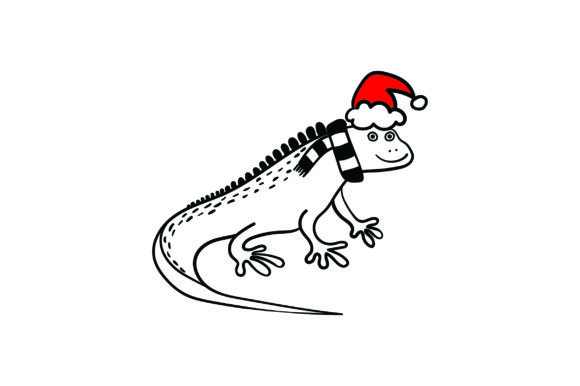 Christmas Iguana Christmas Craft Cut File By Creative Fabrica Crafts