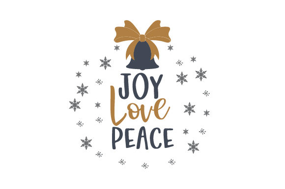 Download Free Joy Love Peace Svg Cut File By Creative Fabrica Crafts for Cricut Explore, Silhouette and other cutting machines.