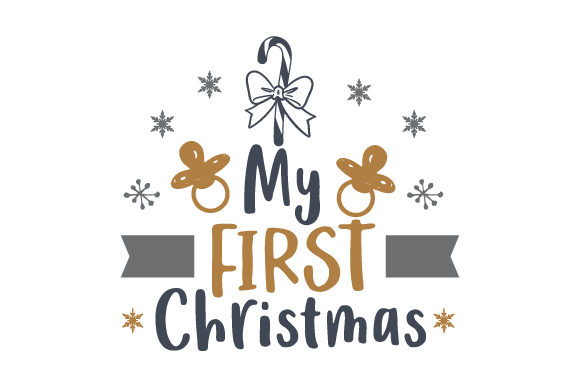 Download Free My First Christmas Candy Cane Svg Cut File By Creative Fabrica for Cricut Explore, Silhouette and other cutting machines.