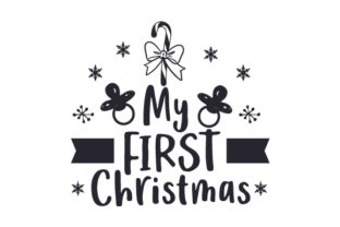 My First Christmas Candy Cane Christmas Craft Cut File By Creative Fabrica Crafts 2