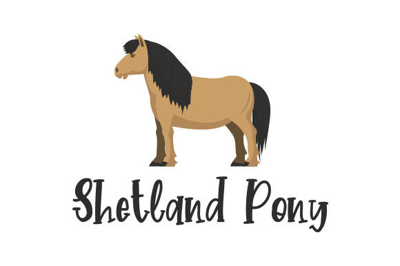 Download Free Shetland Pony Svg Cut File By Creative Fabrica Crafts Creative for Cricut Explore, Silhouette and other cutting machines.