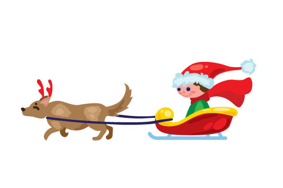 Download Free Dog Sleigh Svg Cut File By Creative Fabrica Crafts Creative for Cricut Explore, Silhouette and other cutting machines.