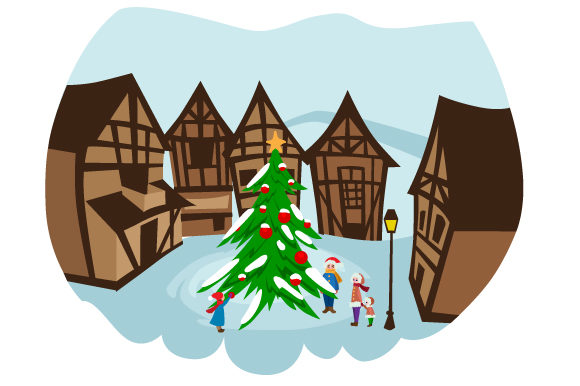 Download Free Christmas Village Svg Cut File By Creative Fabrica Crafts for Cricut Explore, Silhouette and other cutting machines.