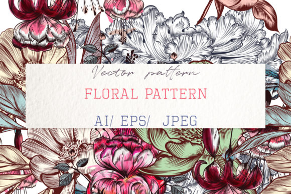 Beautiful Pattern Illustration Flowers Graphic Patterns By fleurartmariia