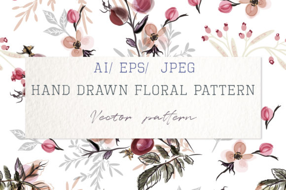 Beautiful Vector Flower Pattern Roses Gráfico Moldes Por fleurartmariia
