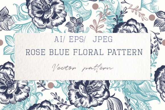 Beauitful Vector Vintage Pattern Roses Graphic Patterns By fleurartmariia