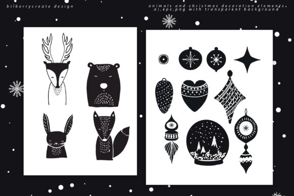 Scandinavian Christmas Collection Graphic Illustrations By BilberryCreate - Image 6