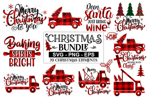 20 Christmas Elements SVG Bundle Graphic By DesignSmile