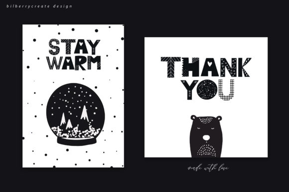 Scandinavian Christmas Collection Graphic Illustrations By BilberryCreate