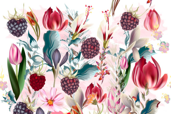 Beautiful Floral Pattern Spring Flowers Graphic Patterns By fleurartmariia - Image 3