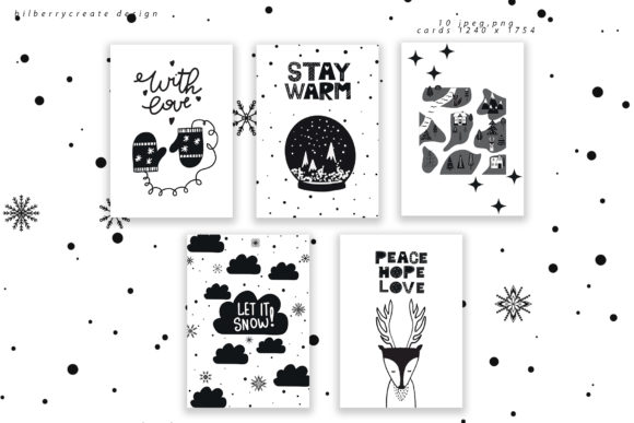 Scandinavian Christmas Collection Graphic Illustrations By BilberryCreate - Image 14