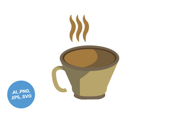 Download Free Coffee Cup Flat Icon Graphic By Sasongkoanis Creative Fabrica for Cricut Explore, Silhouette and other cutting machines.