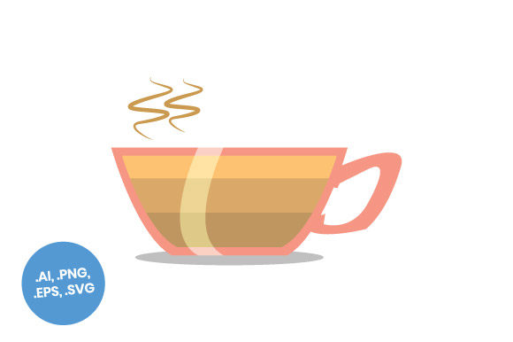 Download Free Coffee Layers Flat Icon Graphic By Sasongkoanis Creative Fabrica for Cricut Explore, Silhouette and other cutting machines.