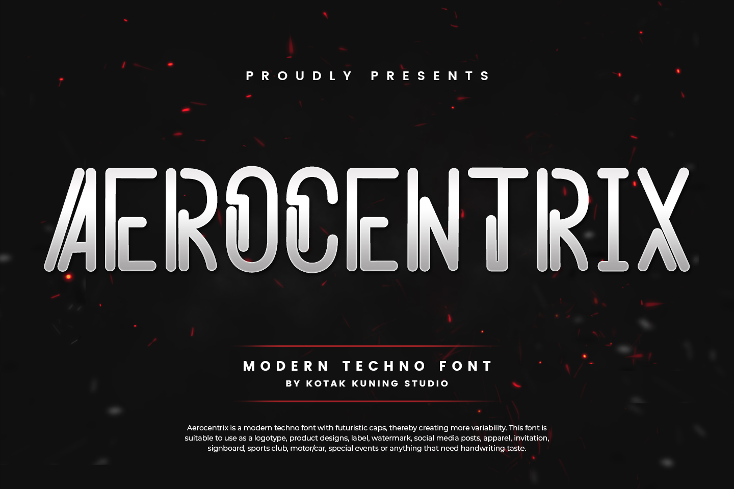 Download Free Aerocentrix Font By Kotak Kuning Studio Creative Fabrica for Cricut Explore, Silhouette and other cutting machines.