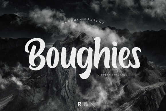 Print on Demand: Boughies Display Font By RochArt