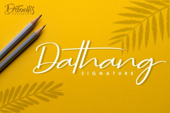 Print on Demand: Dathang Script & Handwritten Font By Ditoollis Project