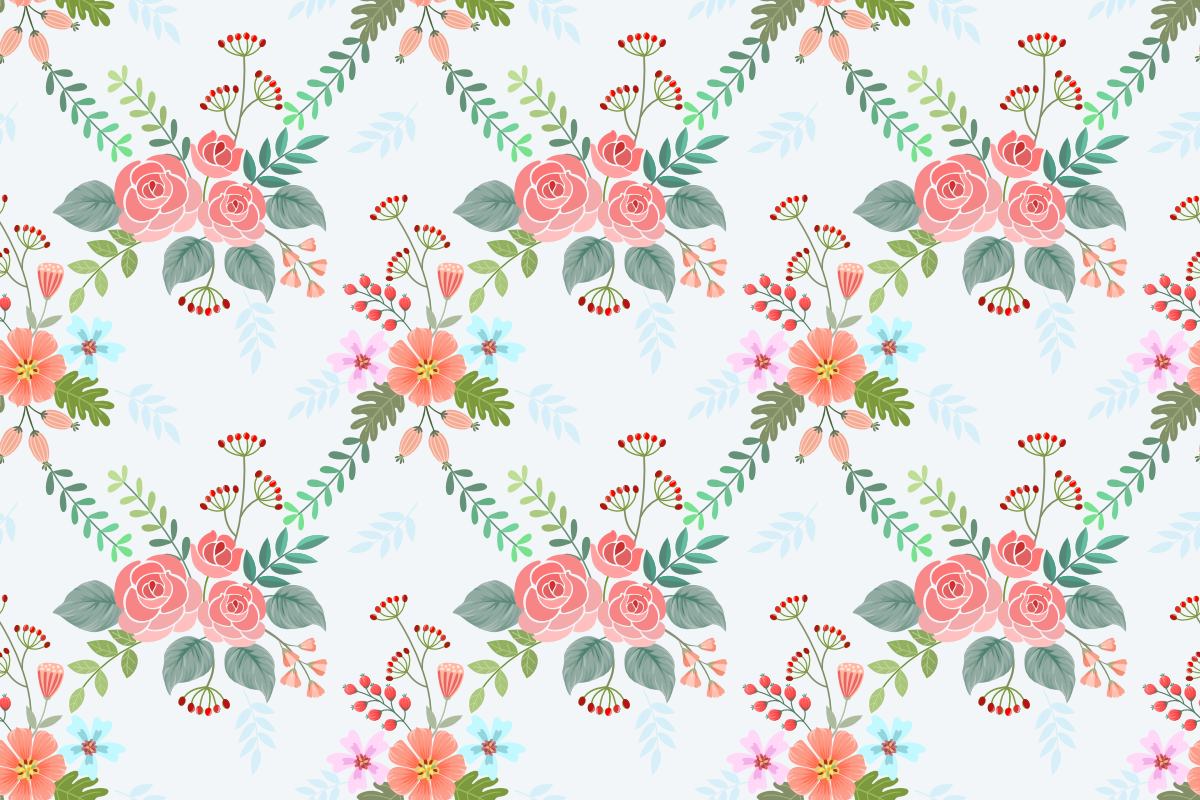 Download Free Colorful Blossom Flowers Pattern Graphic By Ranger262 for Cricut Explore, Silhouette and other cutting machines.