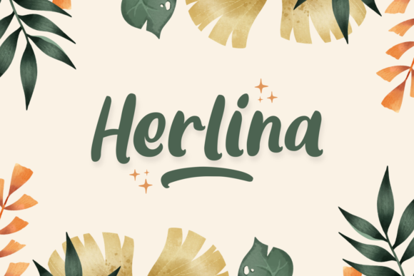 Print on Demand: Herlina Display Font By Dani (7NTypes)