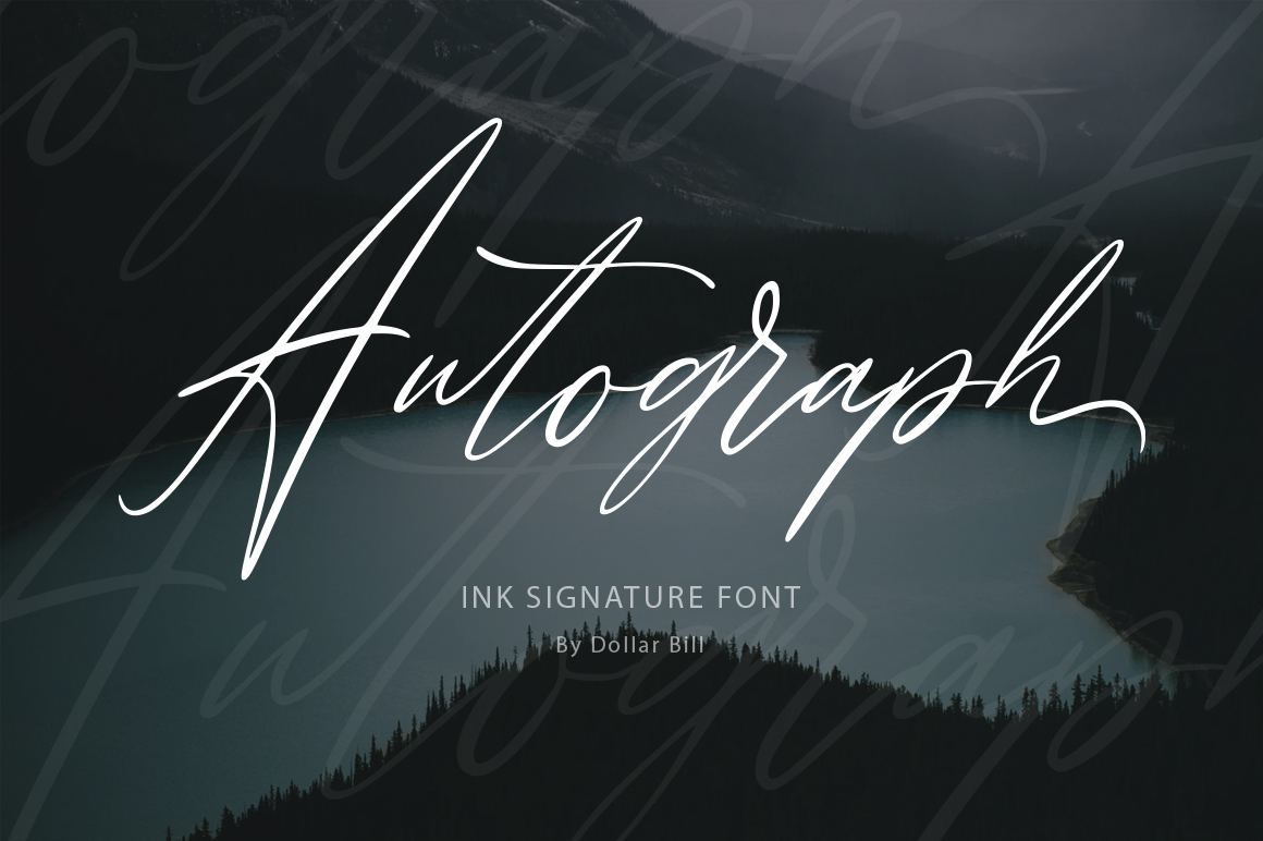 Download Free Autograph Font By Billcreativestore Creative Fabrica for Cricut Explore, Silhouette and other cutting machines.