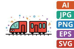 Download Free Cute Train Illustration Graphic By Miketoon Studio Creative for Cricut Explore, Silhouette and other cutting machines.