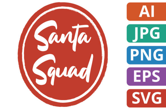Print on Demand: Santa Squad Label / Badge Graphic Icons By MikeToon Studio