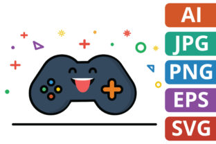 Print on Demand: Cute Game Controller Illustration Graphic Icons By MikeToon Studio