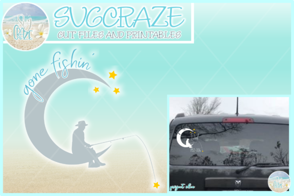 Download Free Gone Fishin Memorial Quote Svg Graphic By Harbor Grace Designs for Cricut Explore, Silhouette and other cutting machines.