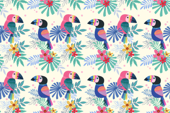 Cute Toucans Bird Seamless Pattern Graphic By Ranger262