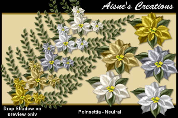 Print on Demand: Poinsettia - Neutral Graphic Objects By Aisne