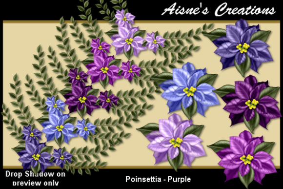 Print on Demand: Poinsettia - Purple Graphic Objects By Aisne