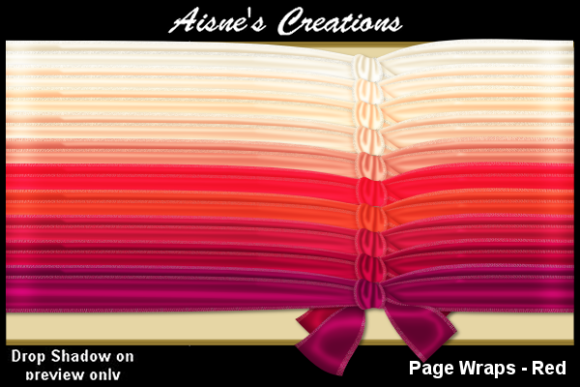 Print on Demand: Page Wraps - Red Graphic Objects By Aisne
