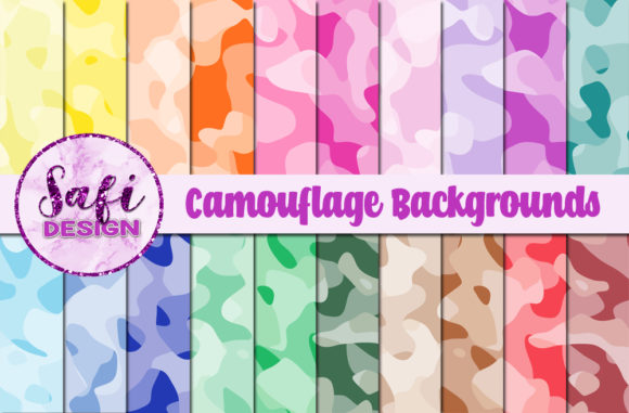 Print on Demand: Camouflage Backgrounds Graphic Backgrounds By Safi Designs
