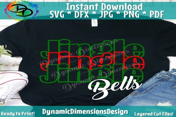 Print on Demand: Jingle All the Way Svg, Jingle Bells Graphic Crafts By dynamicdimensions