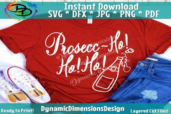 Download Free Prosecc Ho Ho Ho Wine Svg Drinking Graphic By for Cricut Explore, Silhouette and other cutting machines.