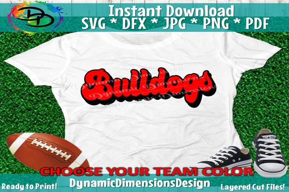 Download Free Bulldogs Groovy Sports Font Graphic By Dynamicdimensions for Cricut Explore, Silhouette and other cutting machines.
