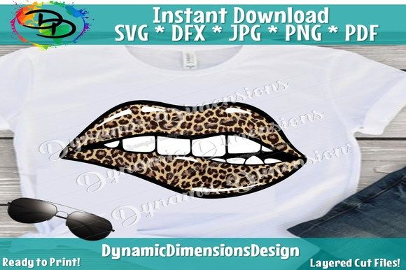 Print on Demand: Sparkling Lips Animal Print SVG Graphic Crafts By dynamicdimensions